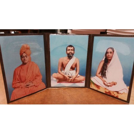 Holy Trio Photographs -Ramakrishna - Holy Mother- Vivekananda