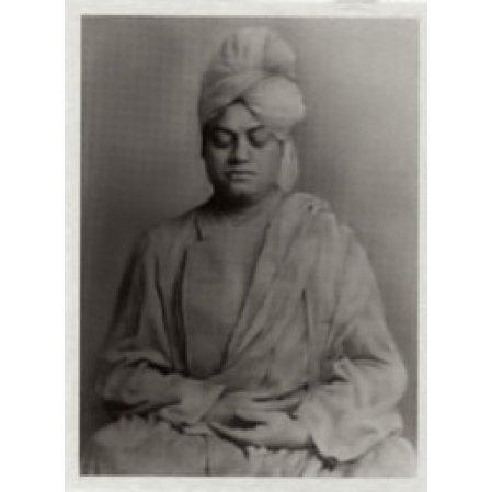 Swami Vivekananda metal photo (shrine pose)