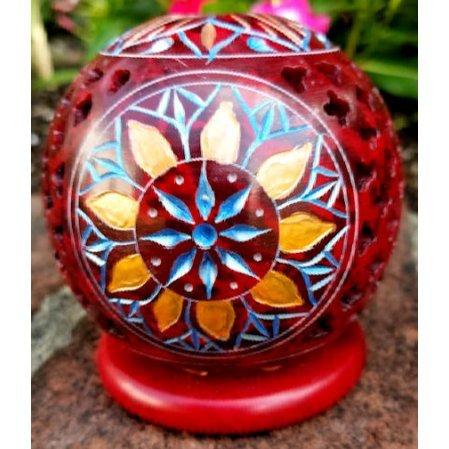 Red Sandstone Incense Burner
