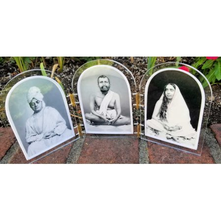 Picture triptych of Ramakrishna Holy Mother Swami Vivekananda