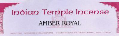 Amber Royal Incense