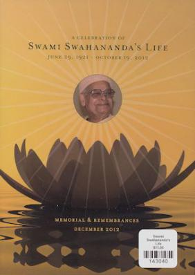 A Celebration of Swami Swahananda's Life DVD