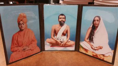 Holy Trio Photographs -Ramakrishna - Holy Mother- Vivekananda