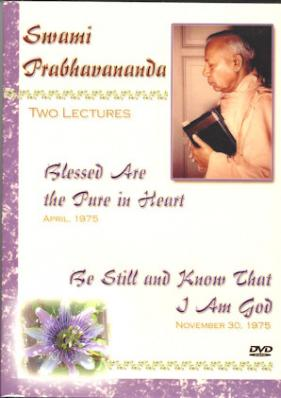 Swami Prabhavananda: Two Lectures DVD