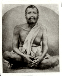 Ramakrishna metal photo (shrine pose)