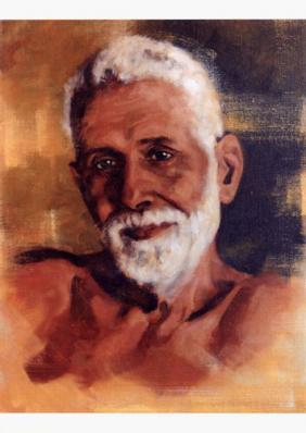 Ramana Maharshi Color Photograph TX8