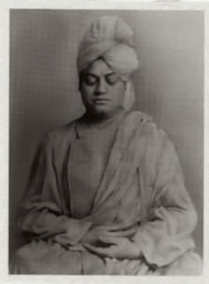 Swami Vivekananda metal photo (shrine pose)