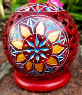 Red Sandstone Incense Burner