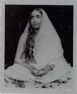 Sarada Devi Metal photo   - shrine pose S1