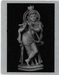 Krishna metal photo - playing flute