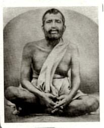 Ramakrishna metal photo (shrine pose)