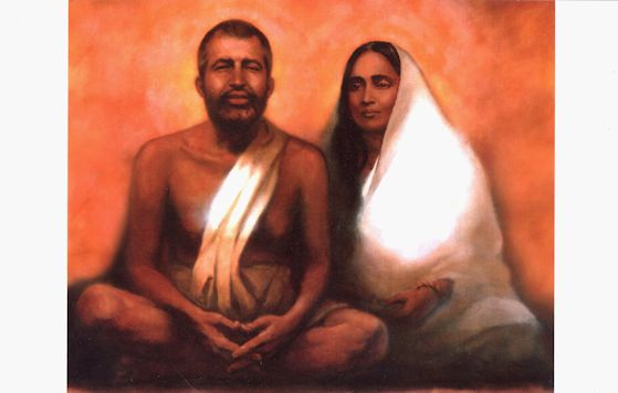 Ramakrishna/Holy Mother Color Photograph TX5