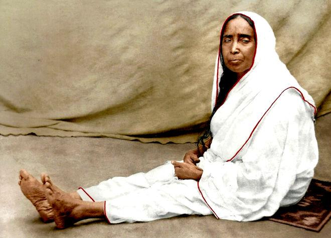 Sarada Devi Color Photograph