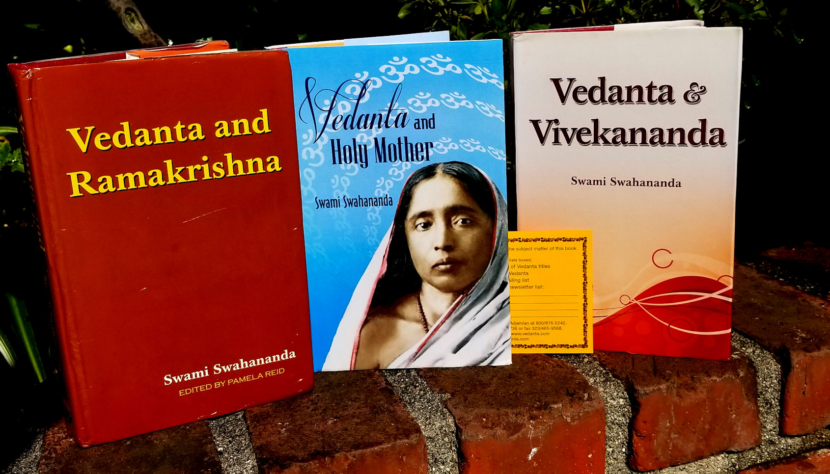 3-Book Set of Swami Swahananda's Works