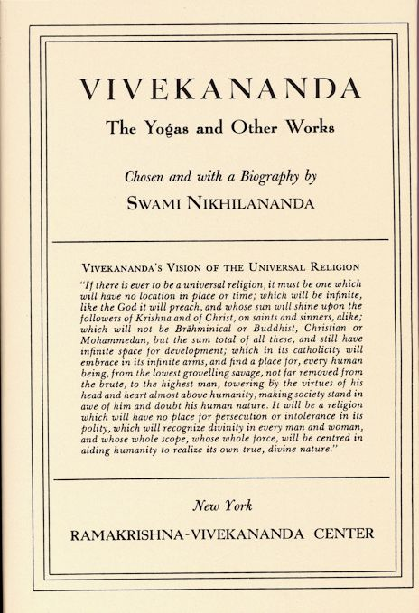 Vivekananda: The Yogas and Other Works