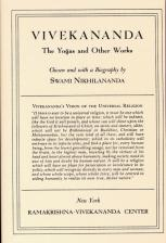 Vivekananda The Yogas and Other Works