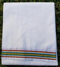 Meditation Shawl with  Multi-color border