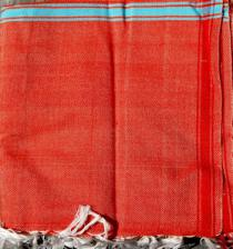 Reddish Simple Cotton Shawl