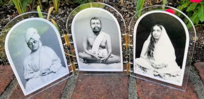 Picture triptych of Ramakrishna Holy Mother Swami Vivekananda